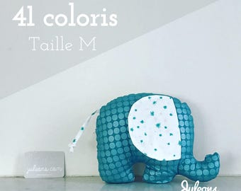 Cushion elephant custom - size M - 41 colours - baby shower gift personalized