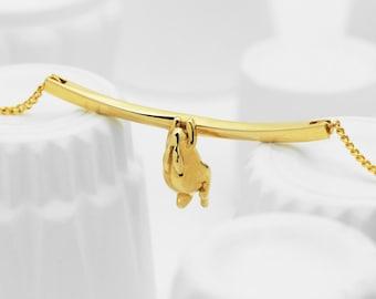 Rabbit Choker Necklace (Brass 3d Printed Jewelry)
