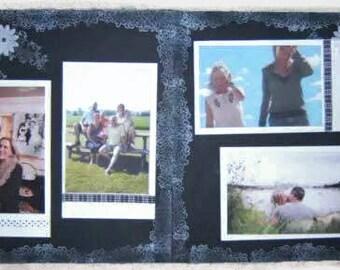 Wedding Scrapbook Pages - premade wedding scrapbook layouts - black and white wedding pages- premade wedding scrapbook pages - wedding pages