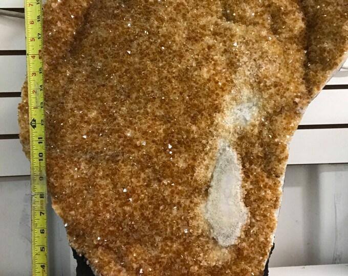 "Citrine Geode 23"" Tall 96 Pound Healing Crystals \ Reiki \ Healing Stone \ Healing Stones \ Chakra \ Home Decor \ Fung Shui \ Chakra"
