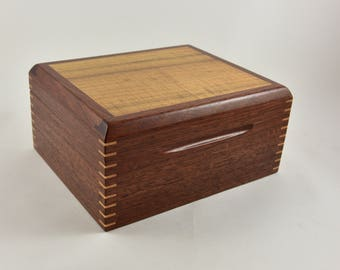 Trinket Box, Handcrafted Box, Storage Box, Timber Box, Wooden Box.