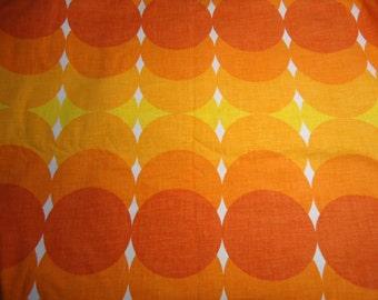 "Spaciger vintage fabric Panton cotton fabric 70s 70s orange yellow 40 x 60 cm (15.7 x 23.6 "")"