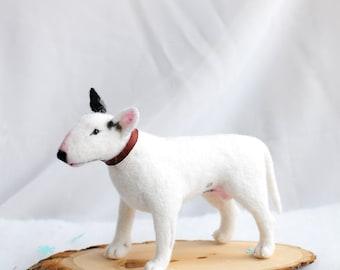 RESERVED Made to order BullTerrier Needle Felting OOAK dog bull terrier Sam
