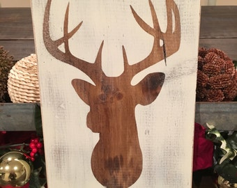 Deer wooden sign