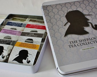 The Sherlock Tea Collection  - Tea Gift - Literary Tea Gift - Bookish Gift - Author Gift-  Loose Leaf Tea - Tea - Sherlock Holmes Tea