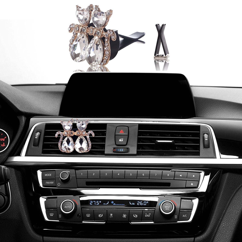 car bling air freshener vent clips crystal interior car. Black Bedroom Furniture Sets. Home Design Ideas