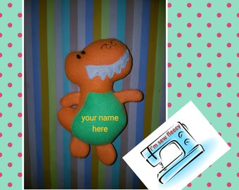 Personalised dino toy