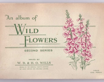 Complete Album of 50x Original Cigarette Tobacco Cards - 'WILD FLOWERS 2nd' - by W.D. & H.O. Wills c1937