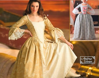 Simplicity Costumes 4092 Size Hh 6 8 10 12 Victorian Gown Marie Antoinette