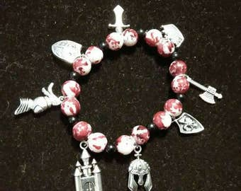 Medevil themed charm bracelet