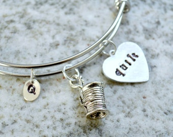 Hand Stamped Charm Necklace: Quilt Jewelry Bracelet or Necklace - gifts for quilters and sewists