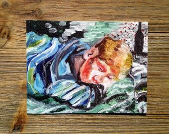 BAD DREAMS Postcard, Art Print, Emma Diffley Original