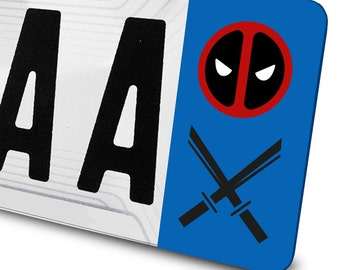 Sticker Deadpool for license plates