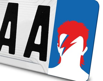 Sticker David Bowie for license plates