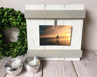 wood picture frame etsy