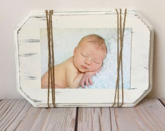 Nursery Decor - Baby Girl - Nursery Wall Art - New Baby Gift - Woodland Nursery - Nursery - Rustic Home Decor - Picture Frame - Wood Frame