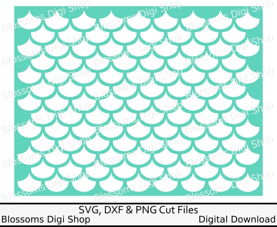 Mermaid Scale Pattern Digital Download Diy By Blossomsdigishop