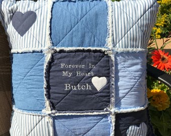 Memory pillow baby clothes keepsake pillow upcycle : quilts made from loved ones clothing - Adamdwight.com
