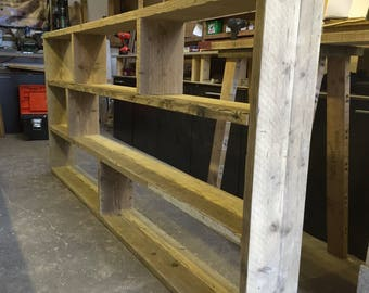 Reclaimed Wood Bookcase / Shelving Unit - scaffold furniture
