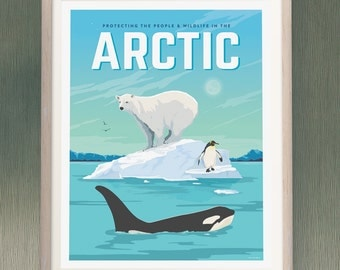 Saving The Arctic - Fine Art Print Glicee Poster - LIMITED EDITION