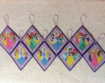 Disney Princess Ornaments! Set of 8!