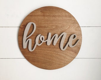 """12"""" round Home sign"""