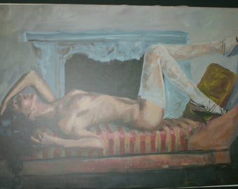 Sensual Giclée on canvas 100cm x 68cm. Signed by the artist