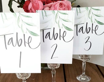 Add on TABLE NUMBERS (Numbers 1-10)