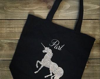Unicorn Tote Bag- Silver