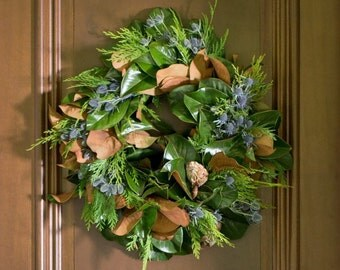 San Francisco Estate Wreath - Christmas Wreath - Autumn Wreath - Fall Wreath - Magnolia Wreath - Cedar Wreath - Wreath Christmas - Wreaths