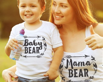 Mothers Day Gift Mama Bear Baby Bear Matching Shirts Family Set T-shirt Tee Funny Pregnancy announcement Idea Baby Shower Party Awesome