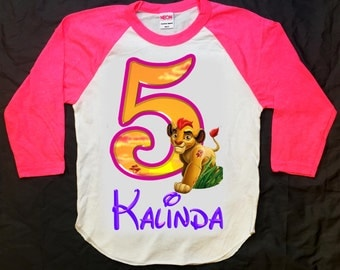 Lion Guard Birthday Shirt - Lion Guard Girl's Shirt