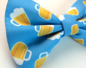 Beer Bow Tie | Dog Bow Tie | Blue Bow Tie | Bow Tie for Dogs | Food Bow Tie | Blue Bow Tie