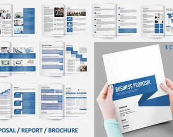 Business Proposal Template | Project Proposal | 3 Color | InDesign & MS Word Template - V03