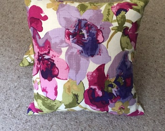 SOLD-Floral olive green cushions 40 x 40cms ,scatter cuahion, pillows, throw cushions