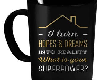 Real Estate Agent Coffee Mug 11 oz. Perfect Gift for Your Dad, Mom, Boyfriend, Girlfriend, or Friend - Proudly Made in the USA!