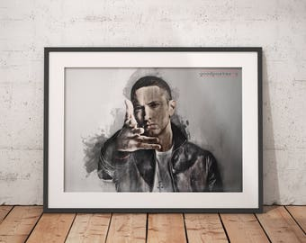 Marshall decor etsy for Eminem wall mural