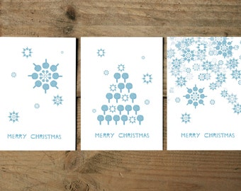 Post card set * Merry Christmas