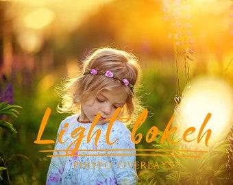 25 Light Bokeh Photoshop overlays,photoshop overlays, summer overlays, bokeh overlays, sun overlays