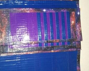 Duct tape women's wallet space galaxy pattern