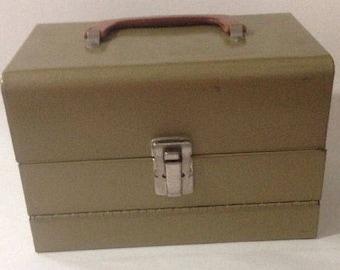 Vintage Logan De Luxe 8mm Film Reel Movie Chest 12 Slot Metal Storage Case Box