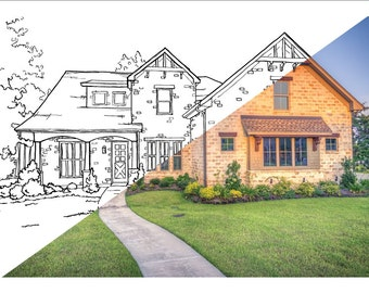 Custom Colouring Page | House Portrait | great Kids Activity Sheet | Birthday Gift | SENT ELECTRONICALLY