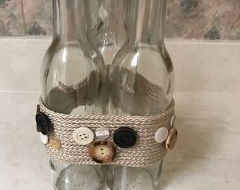 A Bottle & Button Vase