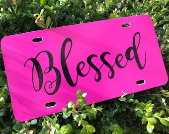Blessed Car License Plate