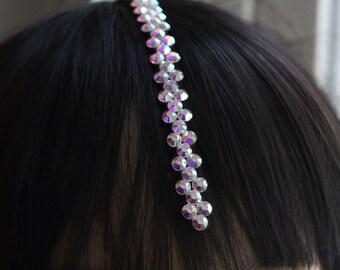 Rhinestone Hairpiece, Center Part Hairpiece, Ballroom Dance, Ballroom Competition, Competition Jewelry, My Ballroom Boutique