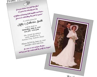 Silver and Gold Anniversary Invitations