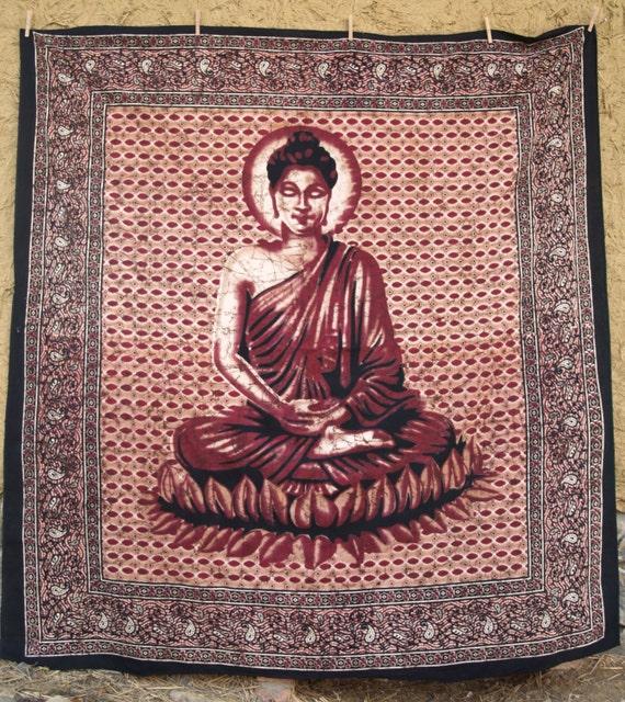 Bedsheet buddha wall hanging beach sheet bed cover by for Fomic sheet wall hanging