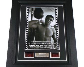 muhammad ali film cells boxing memorabilia motivational training quote framed or unframed - Muhammad Ali Framed Pictures