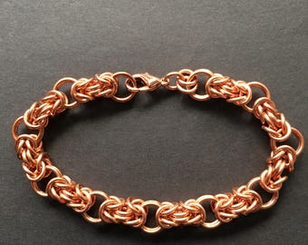 Copper Byzantine Chainmaille Bracelet