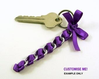 Custom keychain, custom key fob, travel gift women, key chain favour, traveller gift, friendship gift, keyfob, teen gift, boloopidesigns